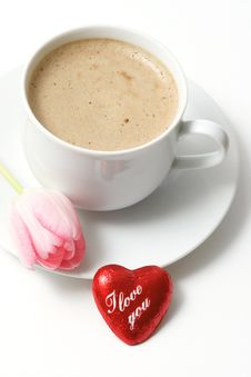 Free Valentine Coffee Royalty Free Stock Images - 4256919