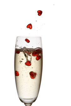 Free Champagne Love. Stock Images - 4257234