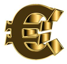 Free Golden Euro Sign Stock Photography - 4257512