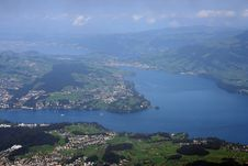 Lake Of Luzern View From Pilatus Stock Photography