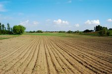 Free Furrow Field Royalty Free Stock Images - 4258279