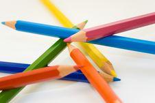 Free Colour Pencils In Disorder Stock Photos - 4259163