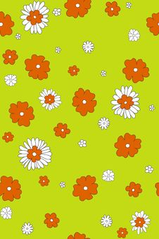 Free Seamless Orange & White Flowers Royalty Free Stock Photos - 4259258