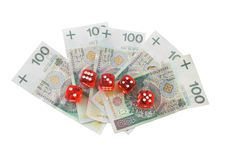Free Dices And Money Royalty Free Stock Photo - 4259965