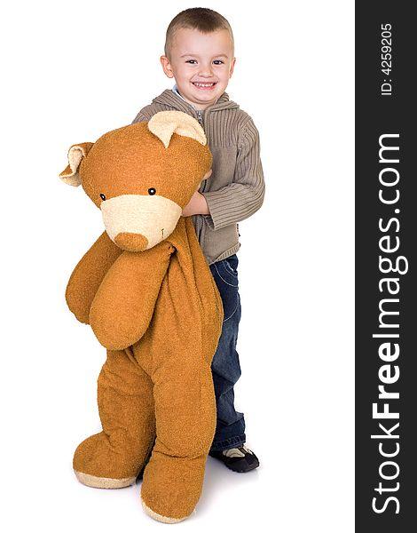 Boy and a teddy bear