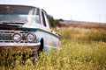 Free Abandoned Car In Field Royalty Free Stock Photo - 4264495