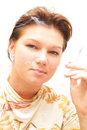 Free Girl Smoking Cigarette Royalty Free Stock Photos - 4266278