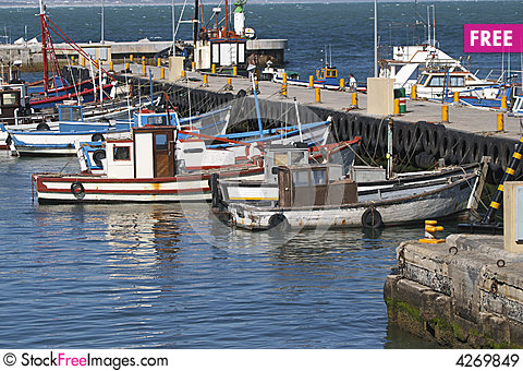 Fishing boats in kalk bay harbour free stock images for Free fishing boats