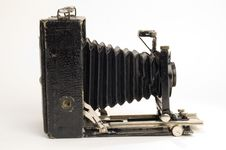 Old Classical Camera With Furs. Royalty Free Stock Photos