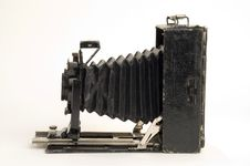 Old Classical Camera With Furs. Royalty Free Stock Image