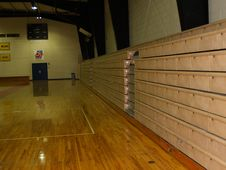 Free Bleachers In Indoor Gym Royalty Free Stock Images - 4261109
