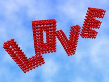 Free Love In The Sky Royalty Free Stock Photo - 4261165