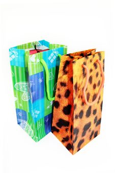 Free Present. Spotty Bag Stock Photography - 4261442
