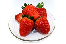 Free Strawberries On Plate Stock Photography - 4261452