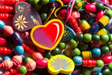 Free Heart-shaped Beads Royalty Free Stock Image - 4261786