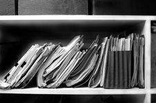 Free Files On Shelf Stock Image - 4261791