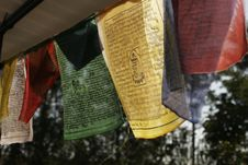 Free Buddhist Prayer Flags Royalty Free Stock Images - 4262449