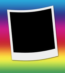 Polaroid Photo Frame Stock Images