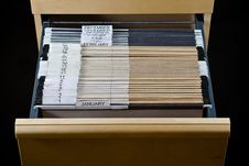 Free File Cabinet And 43 Folders Stock Photos - 4262733