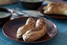 Free Sausage Baked In Shortcrust Pastry Royalty Free Stock Photography - 4263037