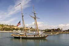 Free Tall Ship Sailing Out Of Dana Point Harbor Stock Photo - 4263440