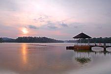 Free Sunset Pavillion Stock Photo - 4263530