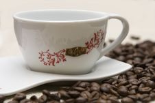 Free Cup Of Coffee And Grains Royalty Free Stock Photo - 4263715