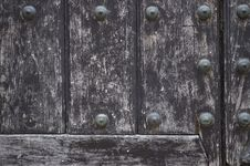 Free Vintage Wooden Door Detail Royalty Free Stock Images - 4264619