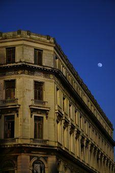 Havana Building Facade Royalty Free Stock Photography