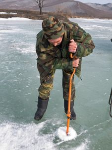 Free Winter Fishing 11 Royalty Free Stock Photo - 4264955