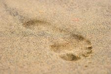 Free Footprint On Sand 3 Stock Image - 4265361