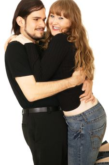 Free Romantic Couple Hugging Royalty Free Stock Photos - 4265368