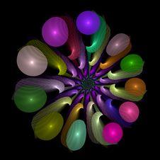 Transparent Neon Whirligig Spiral Royalty Free Stock Photo