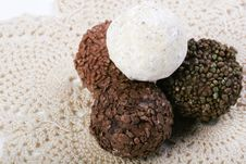 Free Truffles On Doily Stock Photos - 4266093