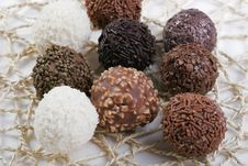 Free Truffles On Doily Stock Images - 4266094