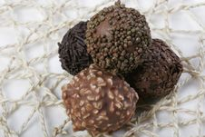 Free Truffles On Doily Royalty Free Stock Photo - 4266095