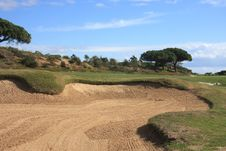 Free Sand Bunker Royalty Free Stock Photos - 4266658