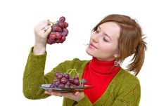 Free Grapes In The Palm Stock Photo - 4266970