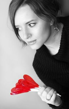 Free Valentine Girl Stock Photo - 4267050
