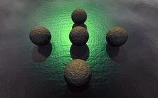 Free 3D Stone Balls Stock Image - 4267451