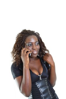 Free Woman Talking On The Phone Stock Photos - 4267503
