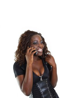 Free Woman Talking On The Phone Royalty Free Stock Images - 4267509
