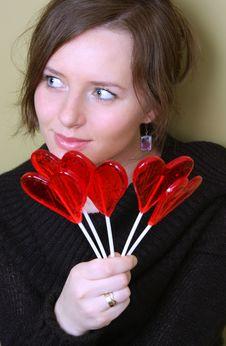 Free Valentine Girl Royalty Free Stock Photography - 4267617