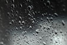 Drops On Glass Royalty Free Stock Photography