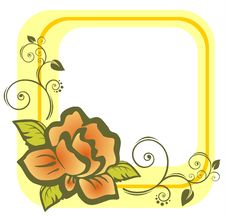 Free Yellow Rose Frame Stock Photography - 4268632