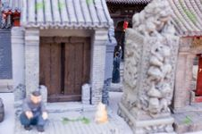 Free Painted Clay Figure Of Old Beijing Stock Photos - 4268663