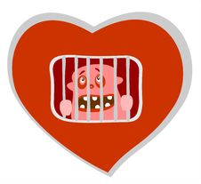Free Heart Prison Royalty Free Stock Photography - 4268707