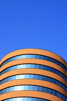 Tube-shapped Building Top Royalty Free Stock Photo
