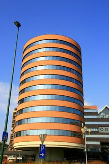 Free Modern Tube-shaped Building Royalty Free Stock Images - 4269049