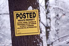 Free Posted: Private Property Royalty Free Stock Photo - 4269285